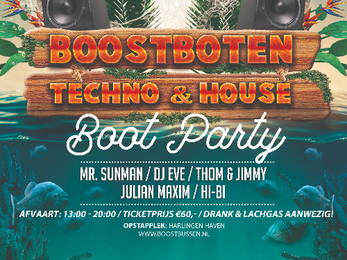 (Boot bijdrage) - BoostBoot x Techno/House V1 | MGTickets