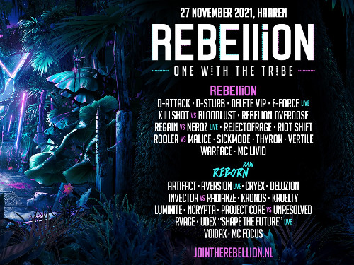 BoostBussen.nl naar REBELLiON 2021 - One With The Tribe | MGTickets