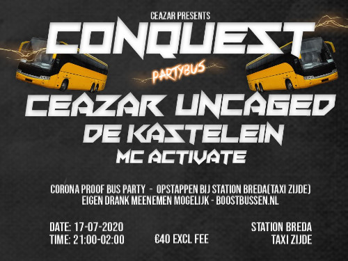 Ceazar presents Conquest: Partybus Tour | MGTickets