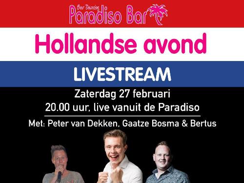 Hollandse Avond Paradiso Bar (livestream)