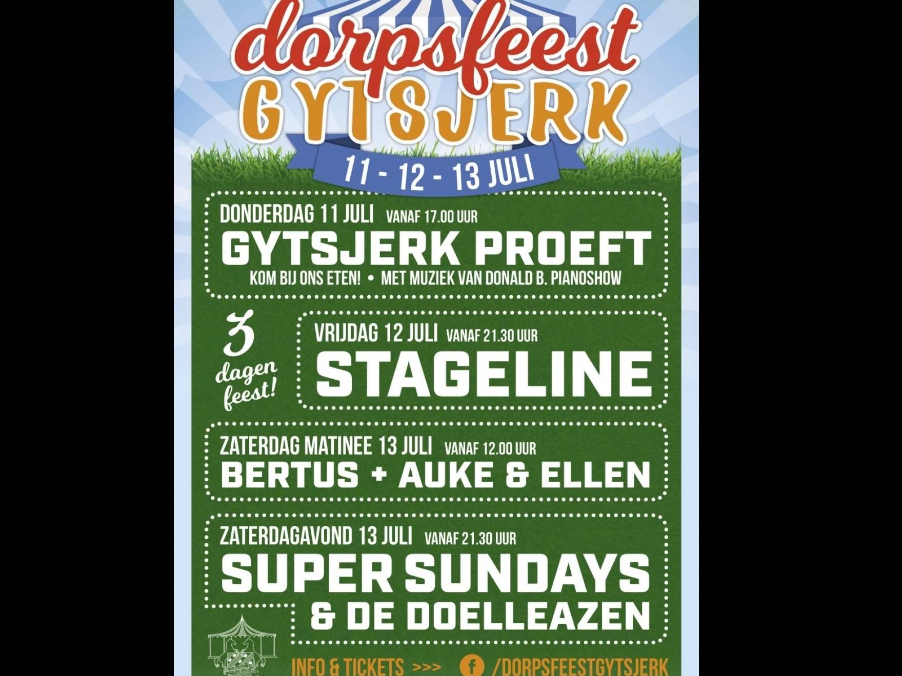 Dorpsfeest Gytsjerk zaterdag 13 juli 2019